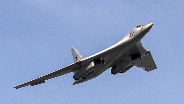 Bombardero estratégico ruso Tu-160 (archivo) - Sputnik Mundo