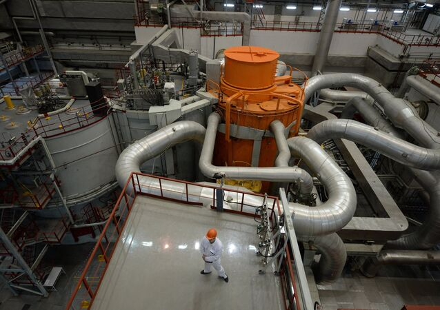 El reactor de la central nuclear de Bieloyarsk, Rusia (archivo)