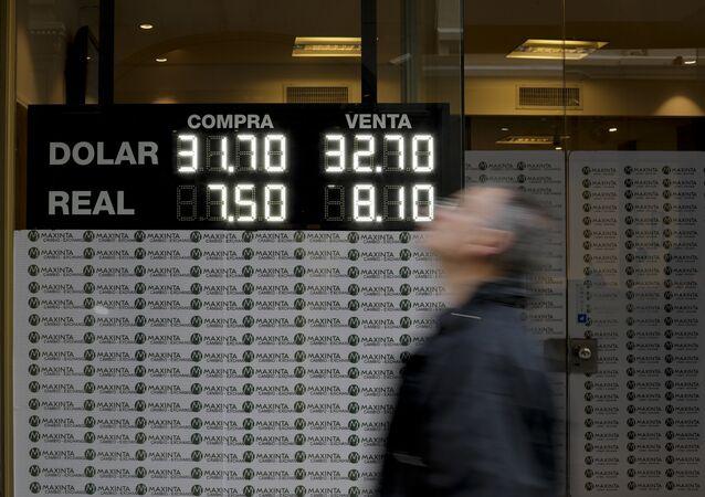 Tasa de cambio de dólar estadounidense y real argentino