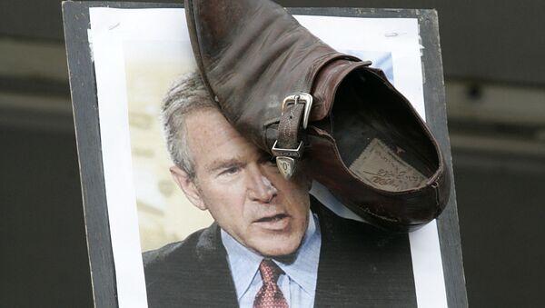 Una protesta contra George W. Bush, expresidente de EEUU (archivo) - Sputnik Mundo
