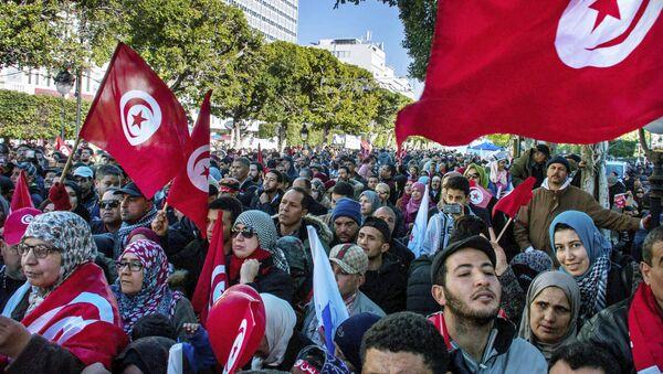 Protestas en Túnez (archivo) - Sputnik Mundo