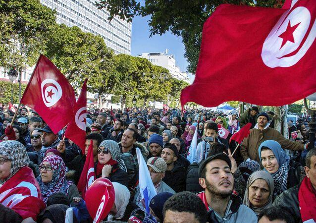 Protestas en Túnez (archivo)