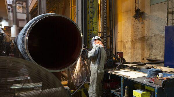 La construcción del gasoducto Nord Stream (archivo) - Sputnik Mundo