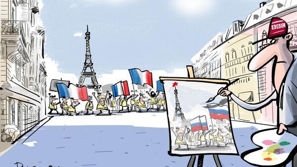 La BBC busca una 'pista rusa' en las protestas de los 'chalecos amarillos' - Sputnik Mundo