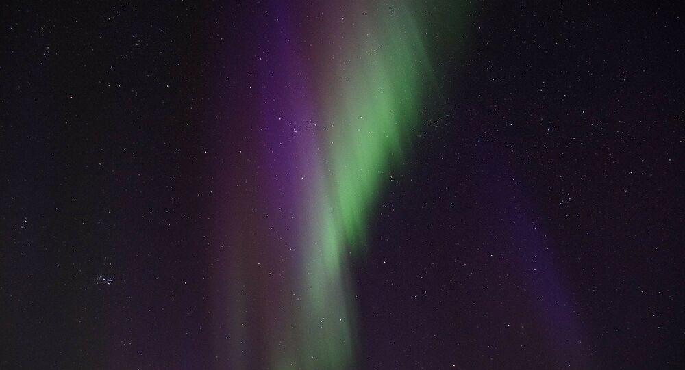 Aurora boreal, imagen referencial