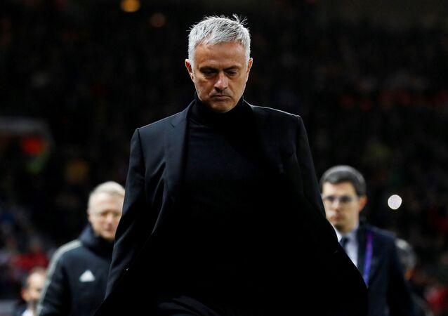 José Mourinho, entrenador del club inglés Manchester United
