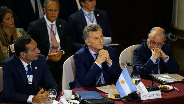 Mauricio Macri, presidente de Argentina, en la cumbre de Mercosur en Montevideo - Sputnik Mundo