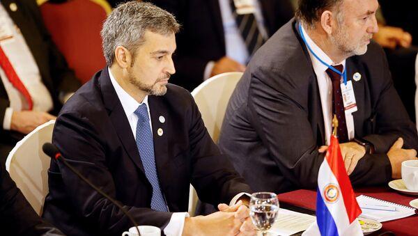 Mario Abdo Benítez, presidente de Paraguay en la cumbre de Mercosur en Montevideo, Uruguay - Sputnik Mundo