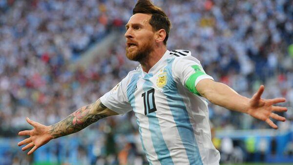 El jugador de fútbol Lionel Messi en Rusia 2018 - Sputnik Mundo