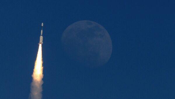 Un cohete con satélite de comunicaciones GSAT-7A - Sputnik Mundo