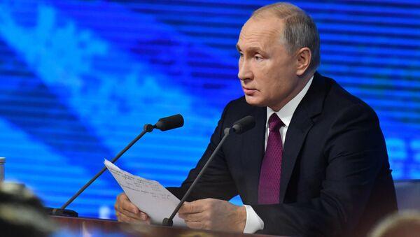 La rueda de prensa de Vladímir Putin - Sputnik Mundo