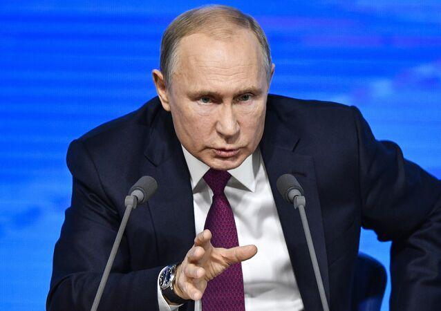 La rueda de prensa de Vladímir Putin