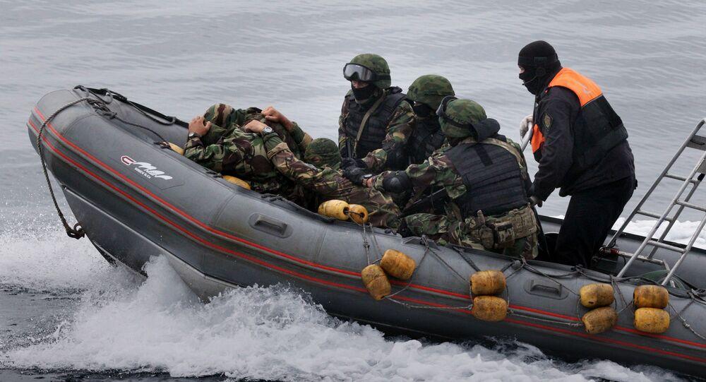 Guardias fronterizos rusos (imagen referencial)
