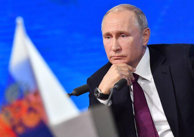 Vladímir Putin, presidente de Rusia, (archivo)