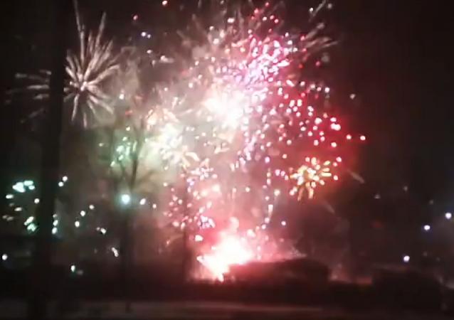Un depósito de fuegos artificiales se incendia en San Petersburgo
