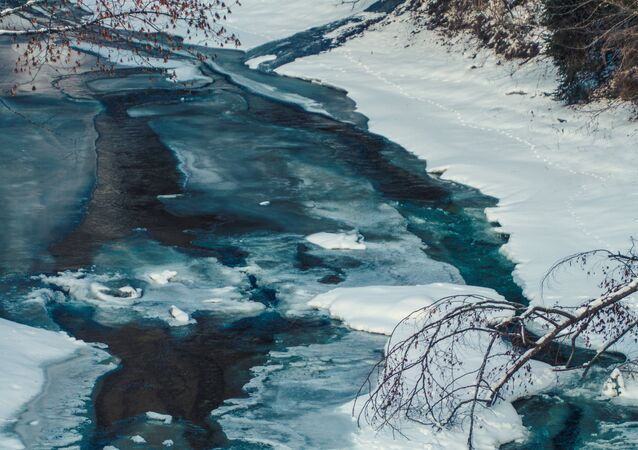 Un río, foto de archivo