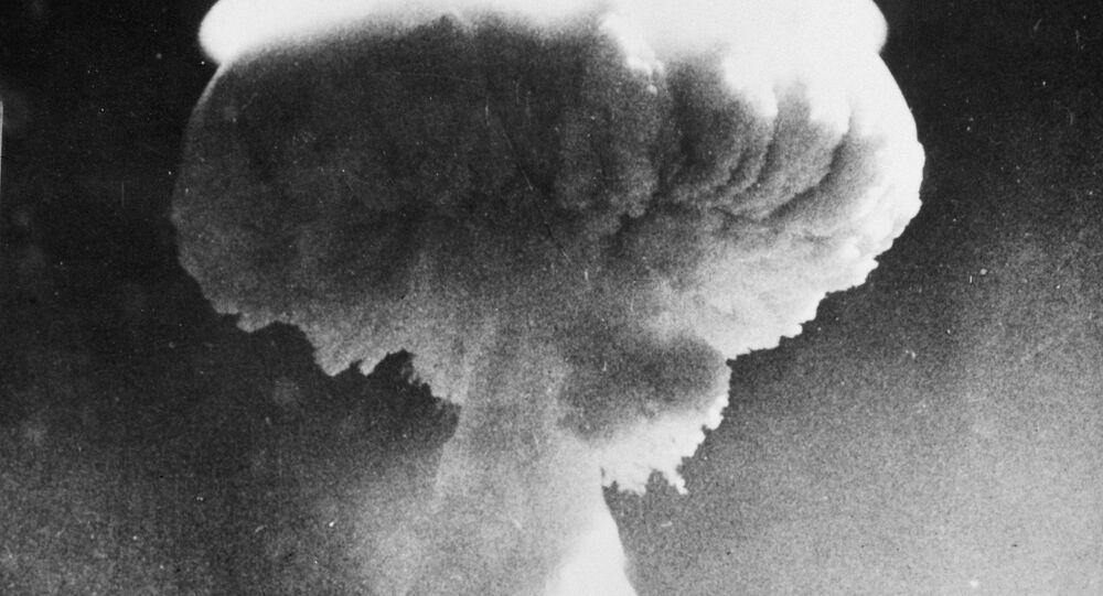 Un ensayo de una bomba nuclear británica