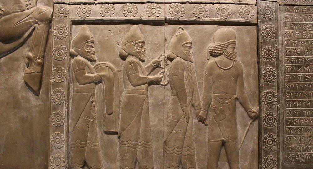 Un bajo relieve de los sumerios