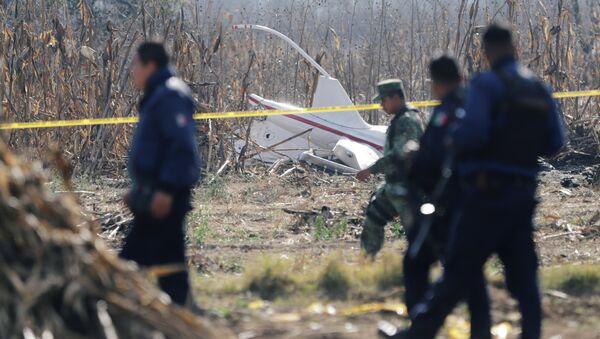 Lugar del siniestro del helicóptero en México - Sputnik Mundo