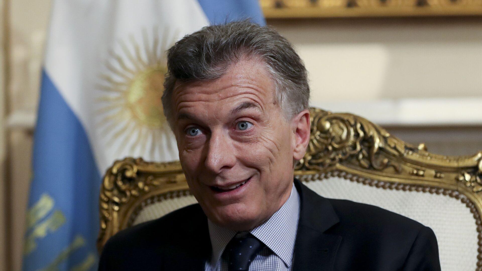 El presidente de Argentina, Mauricio Macri - Sputnik Mundo, 1920, 09.07.2021
