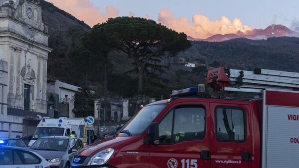 Coinsecuencias del terremoto producido por la actividad volcánica en la zona del Etna, en Sicilia - Sputnik Mundo