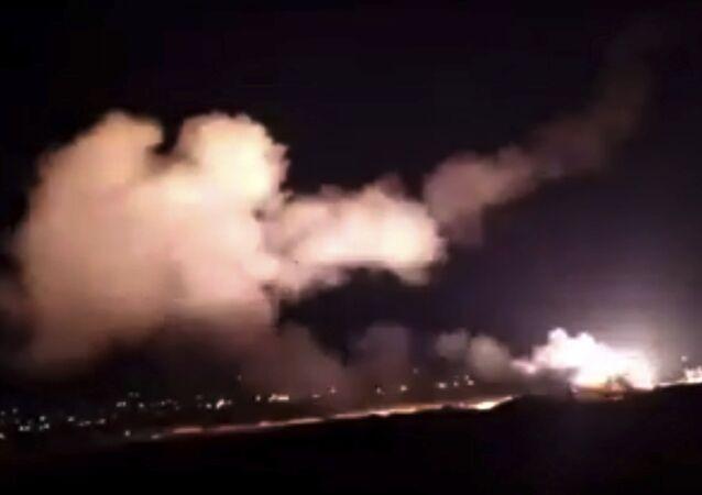 Ataque de Israel contra Siria (archivo)