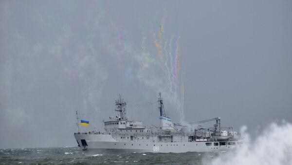 Un buque ucraniano en el mar Negro - Sputnik Mundo