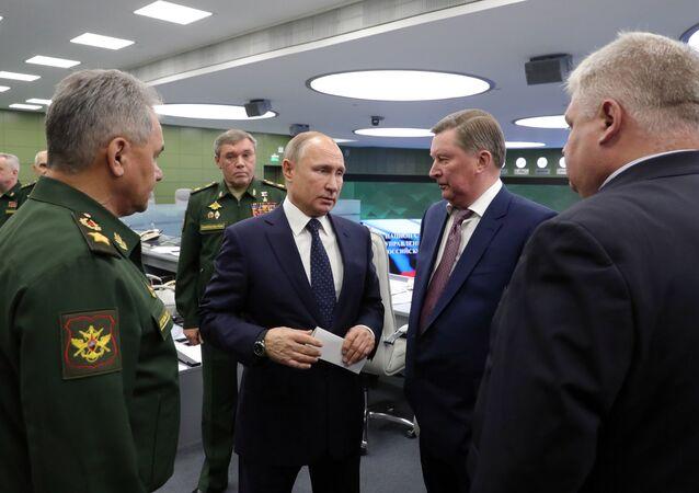 Vladímir Putin, presidente de Rusia, tras observar el lanzamiento del misil Avangard
