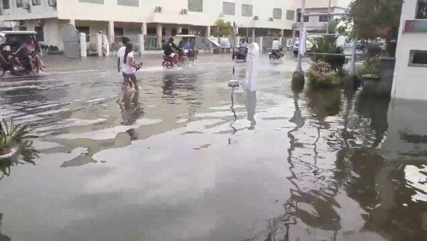 Consecuencias de una tormenta tropical en Filipinas - Sputnik Mundo