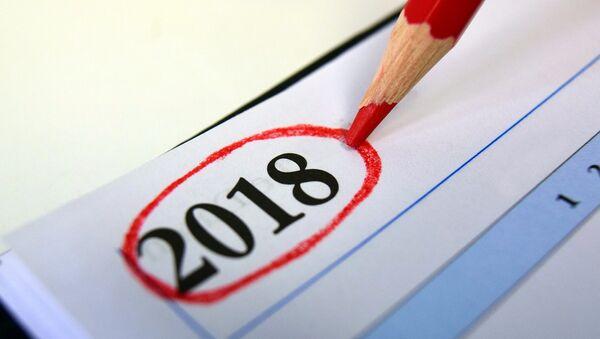 Un calendario de 2018 - Sputnik Mundo