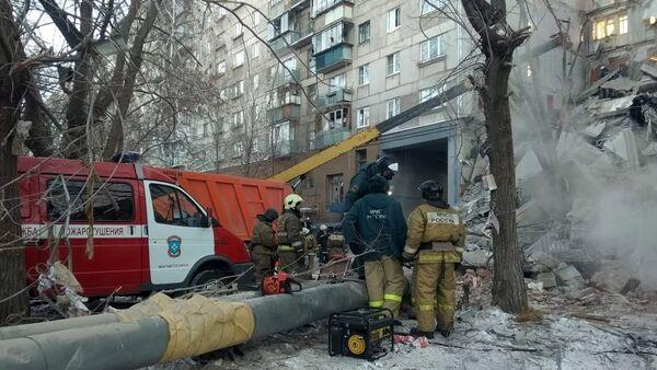 Colapso de un edifico residencial en Magnitogorsk, Rusia - Sputnik Mundo
