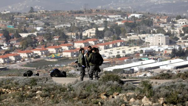 Paramilitares israelíes en Cisjordania - Sputnik Mundo