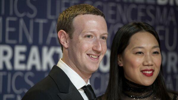 Mark Zuckerberg y Priscilla Chan - Sputnik Mundo