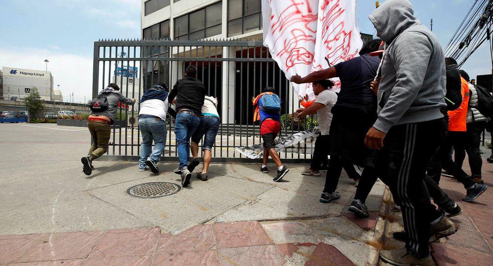 Huelga en el puerto de Valparaíso