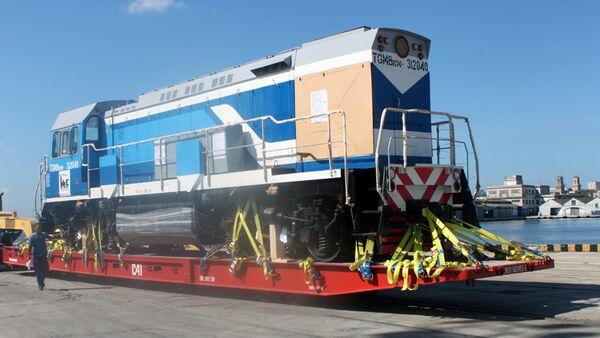 Locomotora de la compañía rusa Sinara Transport Machines (STM) - Sputnik Mundo