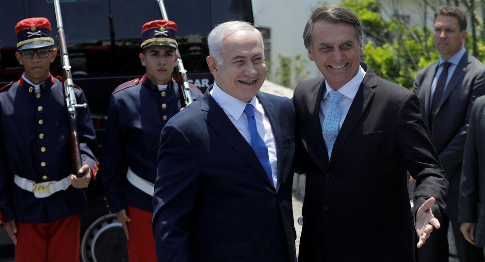 Benjamín Netanyahu, primer ministro israelí y Jair Bolsonaro, presidente de Brasil