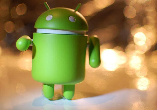 Logotipo de Android, foto archivo