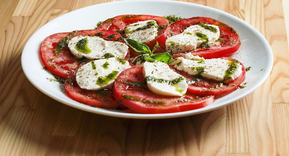 Tomates con mozzarella