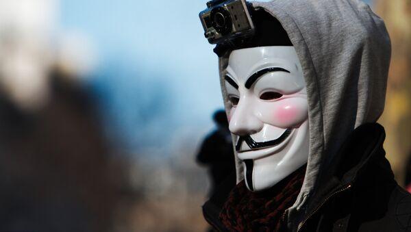 Máscara de Anonymous (imagen referencial) - Sputnik Mundo
