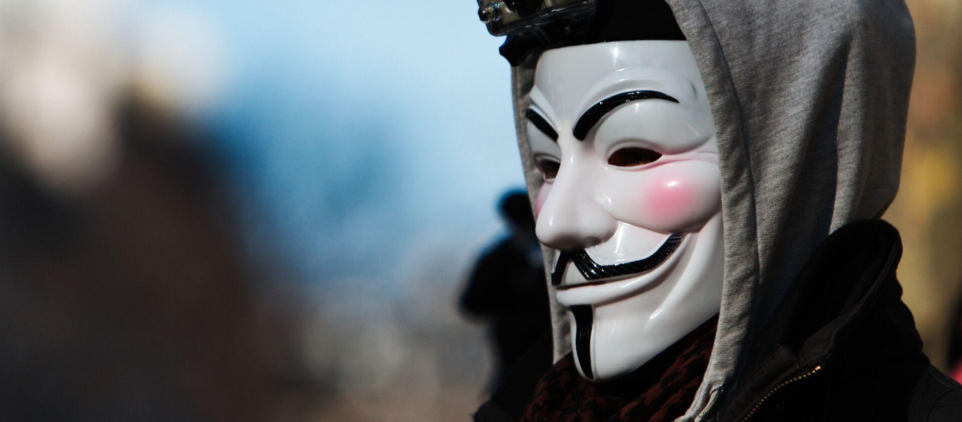 Máscara de Anonymous (imagen referencial) - Sputnik Mundo, 1920, 07.07.2020