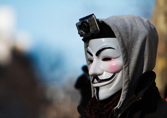 Máscara de Anonymous (imagen referencial)