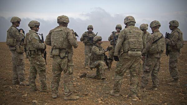 Soldados estadounidenses en Siria (archivo) - Sputnik Mundo