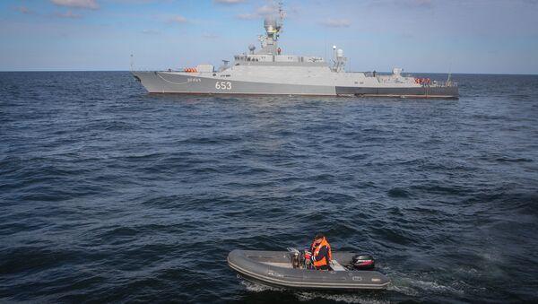 Un buque ruso en el mar Caspio (archivo) - Sputnik Mundo