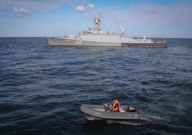 Un buque ruso en el mar Caspio (archivo)