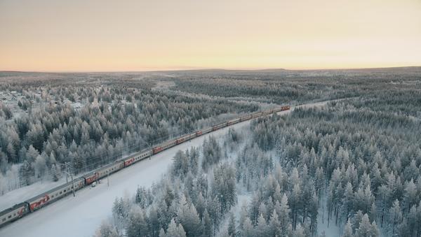 Tren ruso en invierno - Sputnik Mundo