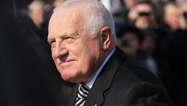 El expresidente de la República Checa, Václav Klaus - Sputnik Mundo