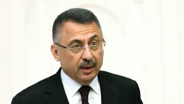 El vicepresidente de Turquía, Fuat Oktay - Sputnik Mundo
