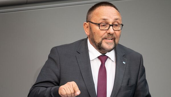 El diputado Frank Magnitz del partido opositor Alternativa para Alemania (AfD) - Sputnik Mundo