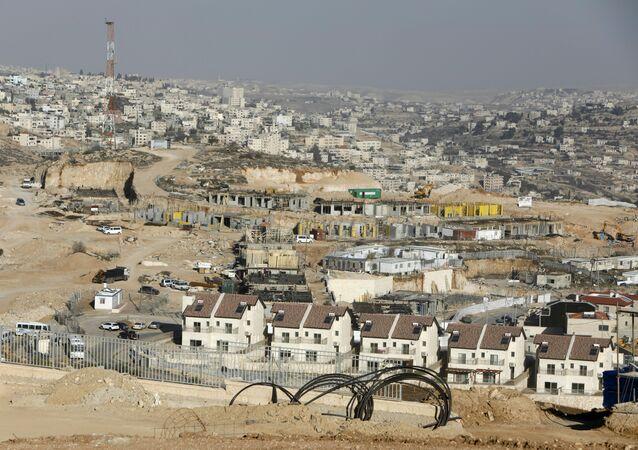 Un nuevo proyecto de viviendas en la parte septentrional del asentamiento israelí de Efrat, cerca de la ciudad palestina de Belén