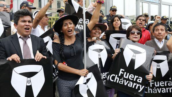 La manifestación contra Pedro Chávarry (Archivo) - Sputnik Mundo